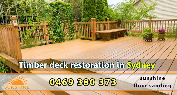 Timber deck restoration in Sydney