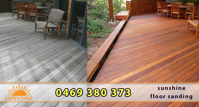 Timber deck restoration in Sydney